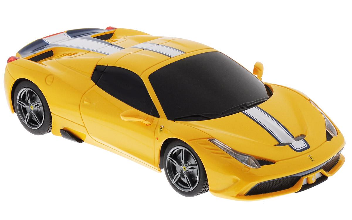 Rastar Радиоуправляемая модель Ferrari 458 Speciale A цвет желтый rastar 1 24 ferrari ff 40 mhz 46700w белый