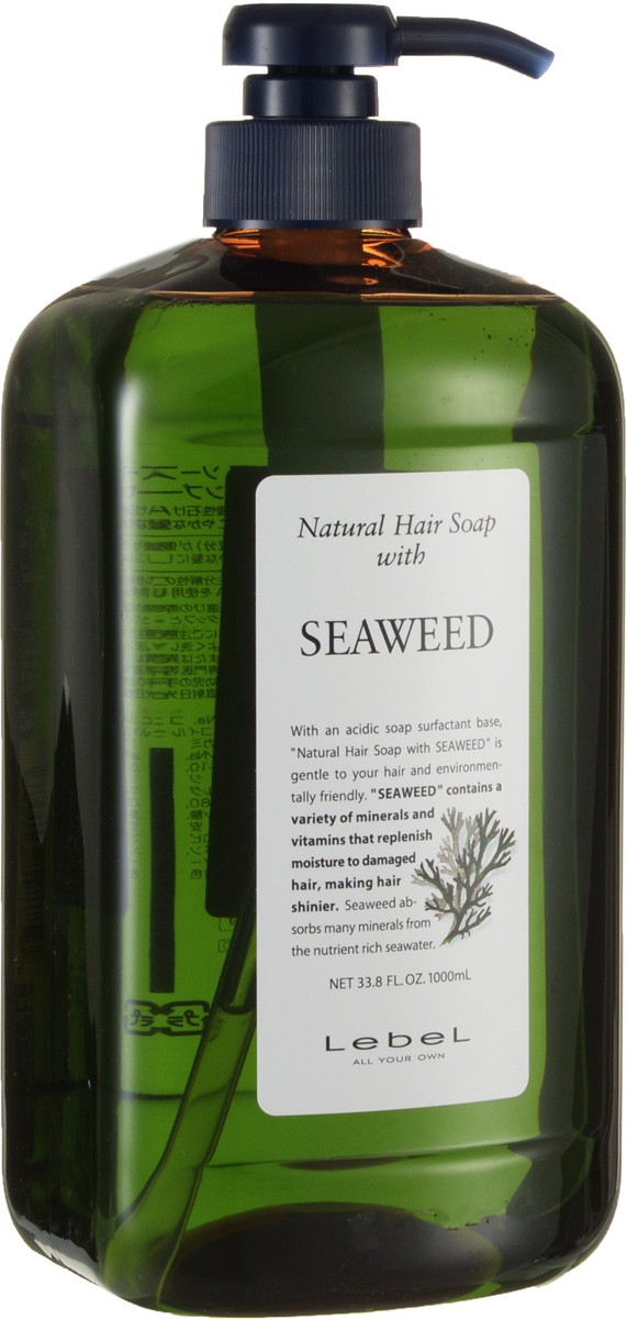Lebel Natural Hair Шампунь с морскими водорослями Soap Treatment Seaweed, 1000 мл morphosis hair treatment line шампунь
