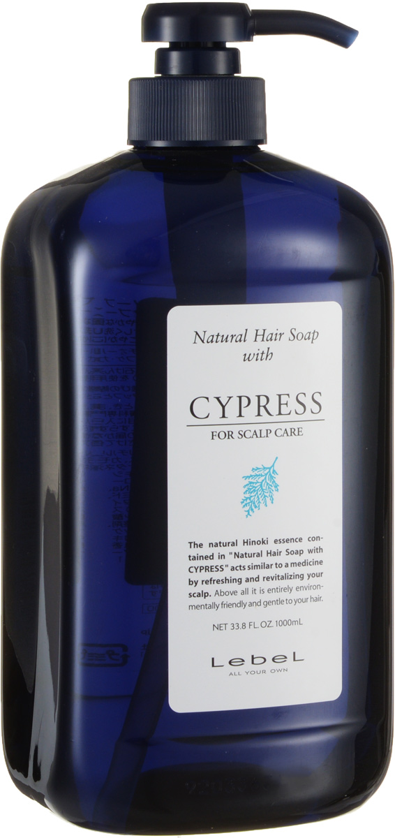 Lebel Natural Hair Шампунь с хиноки (японский кипарис) Soap Treatment Shampoo Cypress, 1000 мл morphosis hair treatment line шампунь
