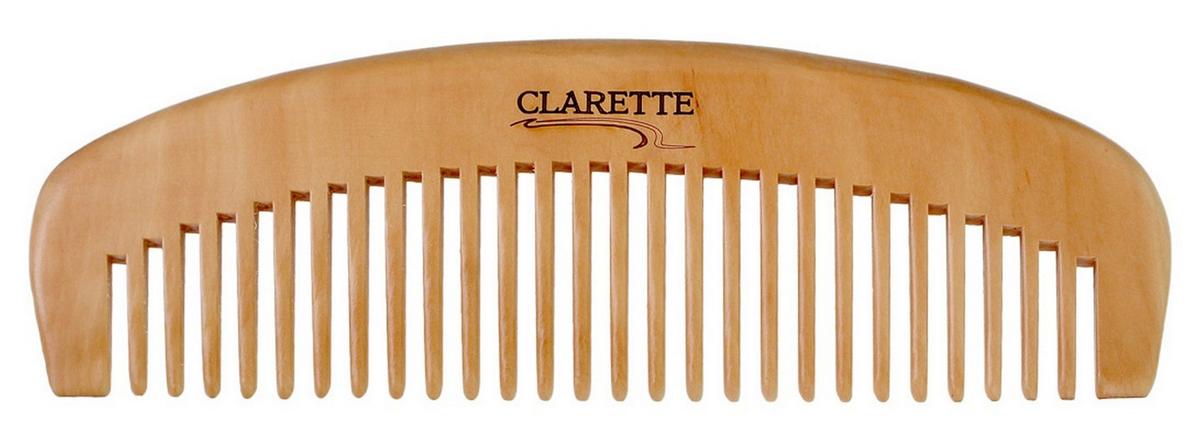 Clarette Расческа- гребень для волос деревянная, цвет: бежевый clarette расческа комбинированная clarette