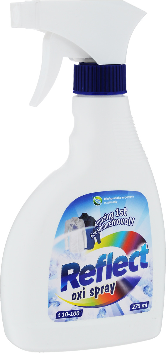 Спрей-пятновыводитель Reflect Oxi, для обработки вещей перед стиркой, кислородный, 275 мл пятновыводитель для цветного белья lotta oxi кислородный 400 г