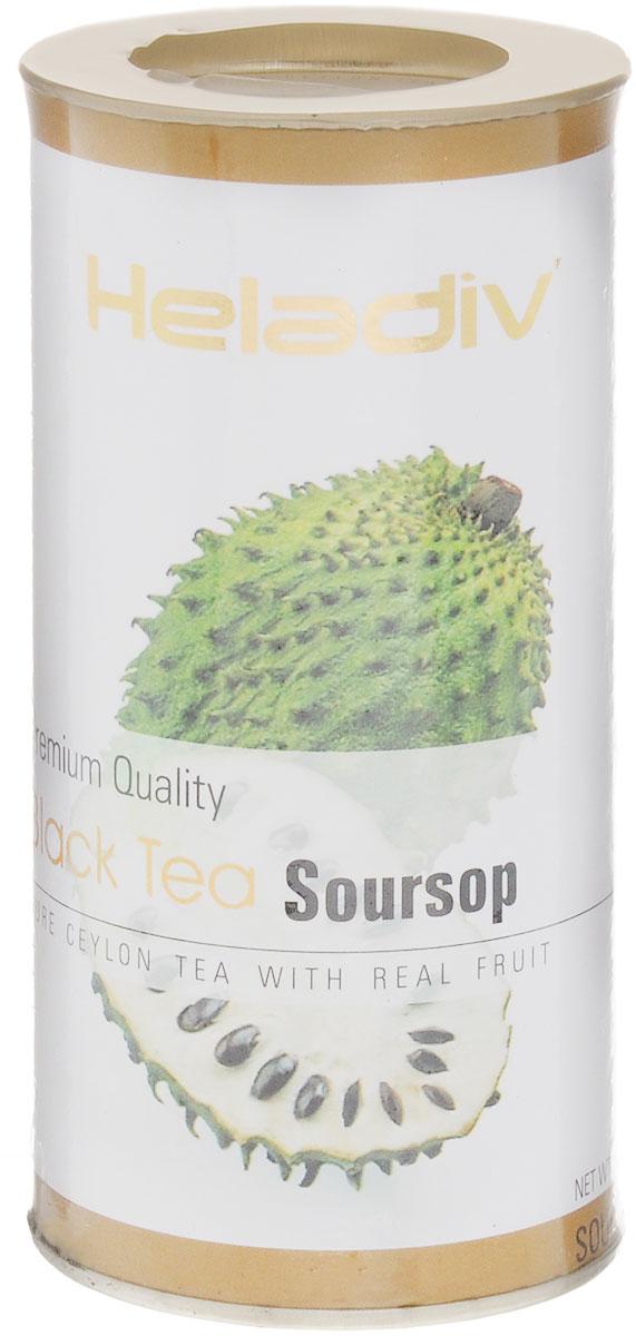 Heladiv Black Soursop чай черный листовой с саусепом, 100 г цена