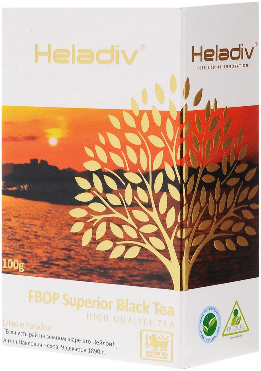 Heladiv FBOP Superior чай черный листовой с типсами, 100 г8003012000121Heladiv FBOP Superior - резаный черный байховый чай, содержащий не слишком скрученные листья со значительной примесью листовых почек - типсов. Содержание типсов придает этому чаю дополнительный аромат и вкус, они являются природным источником антиоксидантов. Данный напиток обладает приятным, насыщенным вкусом, изысканным ароматом и настоем темного цвета. Всё о чае: сорта, факты, советы по выбору и употреблению. Статья OZON Гид