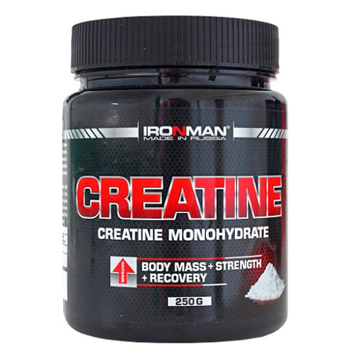 Креатин моногидрат Ironman Креатин, 250 г dymatize nutrition моногидрат креатина dymatize creatine micronized 500гр