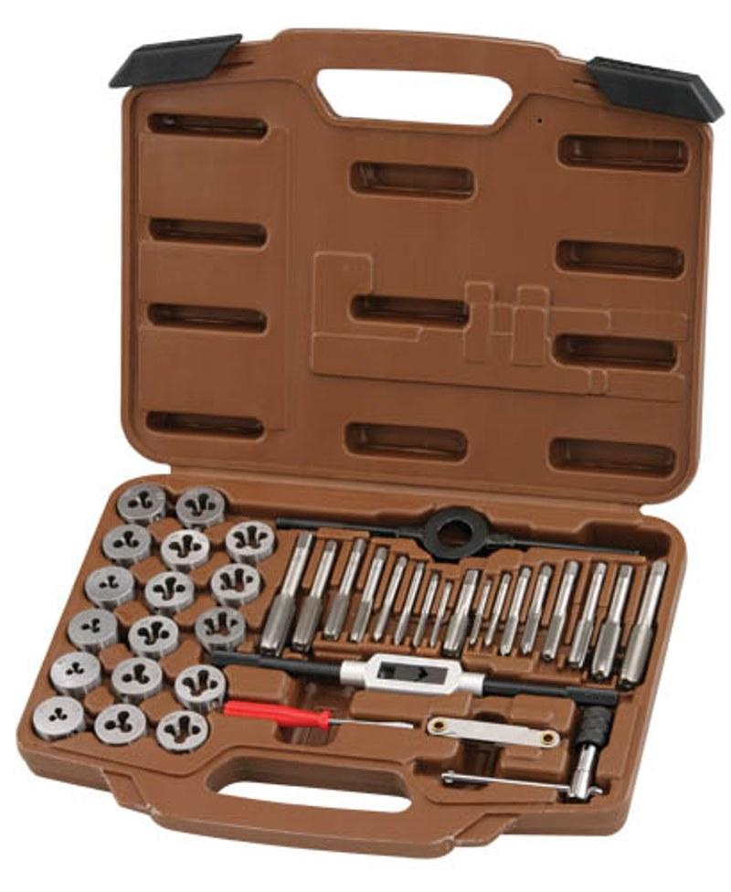 Набор метчиков и плашек Ombra, 40 предметов набор плашек ключ для плашек berger 30×11 bg1186