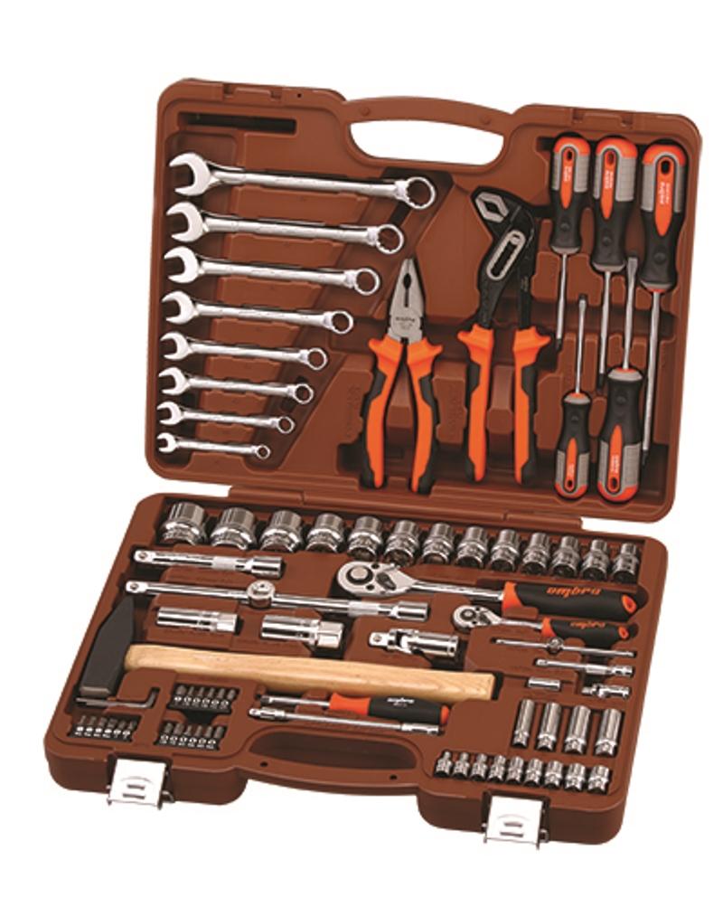 Набор инструментов Ombra, 77 предметов набор инструментов ombra omt150s18 юбилейная серия универсальный 1 4 3 8 и 1 2150предметов