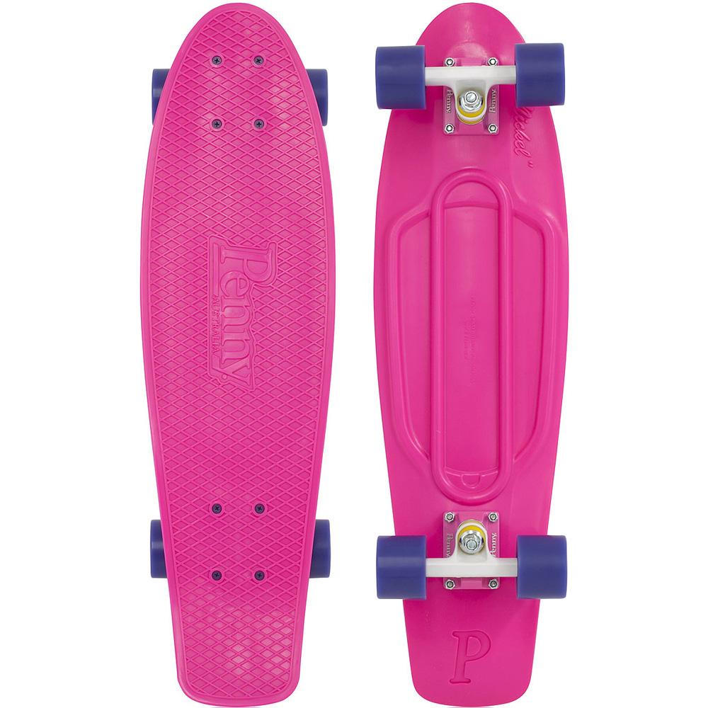 Пенни борд Penny Nickel, цвет: розовый, фиолетовый, дека 69 х 19 см пенни борд hubster cruiser цвет фиолетовый зеленый дека 36