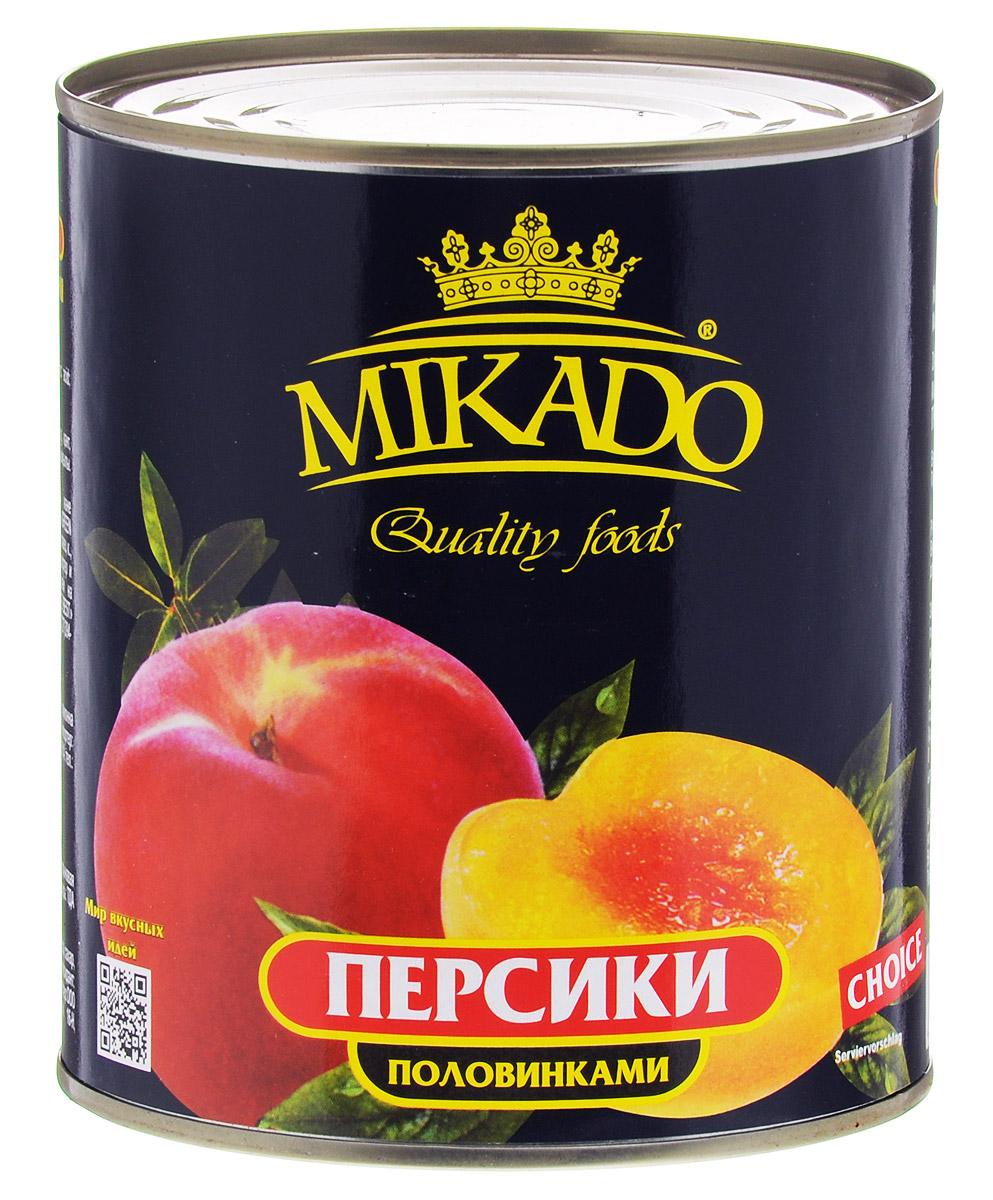 цена на Mikado персики половинками в сиропе, 425 мл