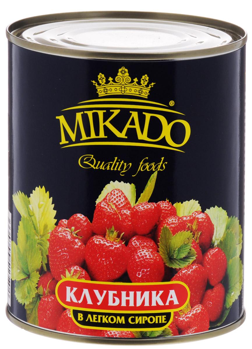Mikado клубника в легком сиропе, 850 мл недорго, оригинальная цена