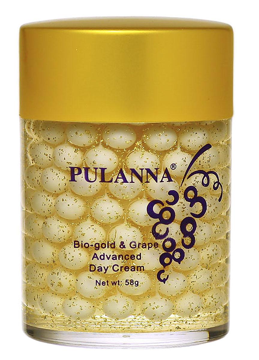 PulannaДневной защитный крем на основе био-золота и винограда - Bio-gold& Grape Advanced Day Cream 58г Pulanna