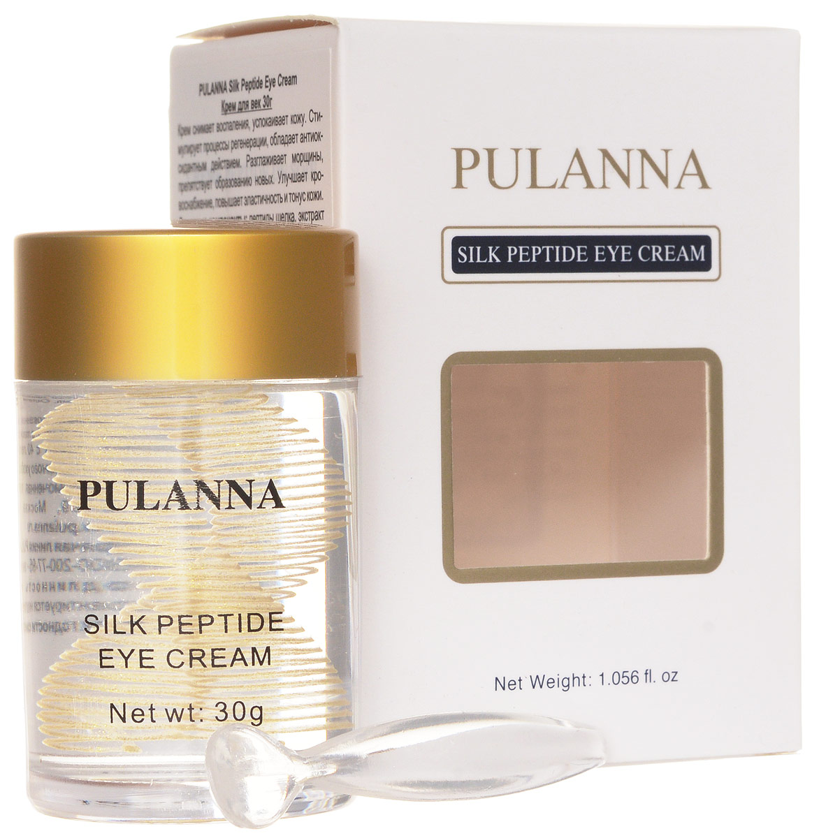 Pulanna Крем для век на основе пептидов шелка - Silk Peptide Eye Cream 30 г