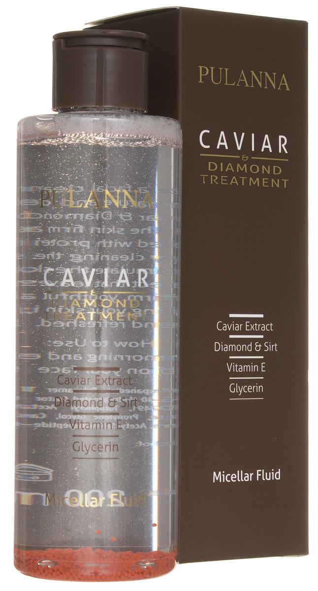 Pulanna Мицеллярная вода на основе икры и бриллиантовой пудры - Treatment Micellar Fluid 200 мл недорго, оригинальная цена