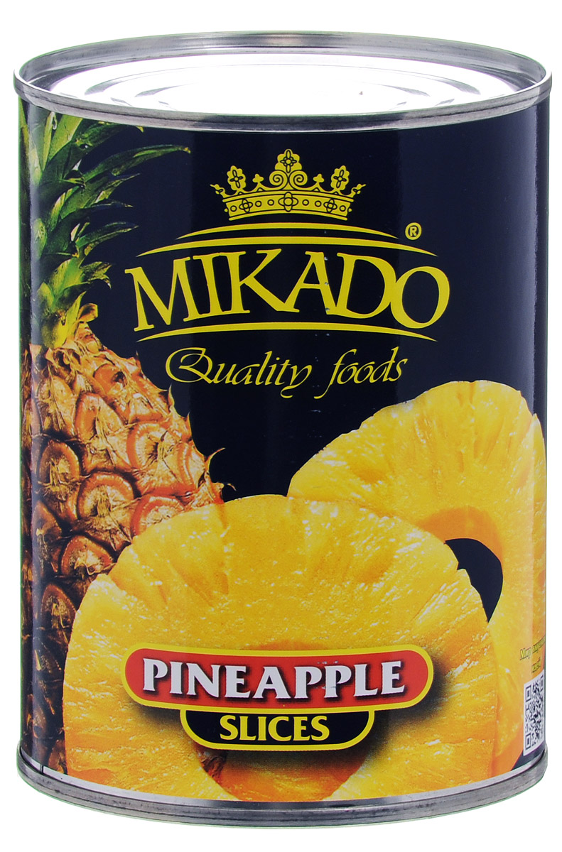Mikado ананас кольцами в сиропе, 580 мл green ray ананасы кольцами тропические в легком сиропе 580 мл