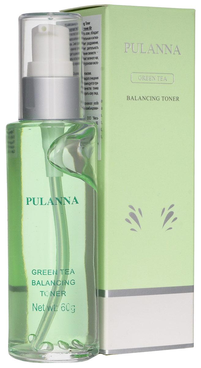 Pulanna PH-балансирующий тоник на основе зеленого чая - Balancing Toner 60 г