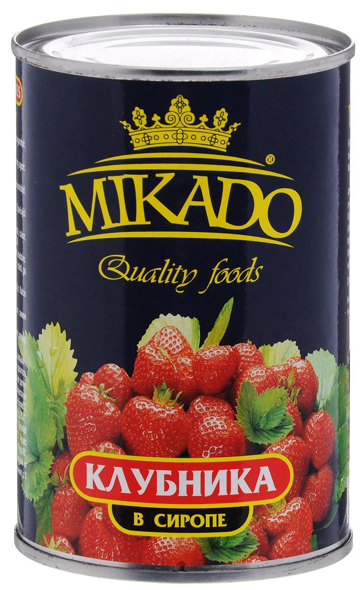 Mikado клубника в сиропе, 425 мл цена