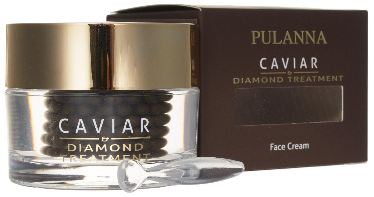 Pulanna Восстанавливающий лифтинг-крем для лица на основе икры и бриллиантовой пудры - Treatment Face Cream 60 г