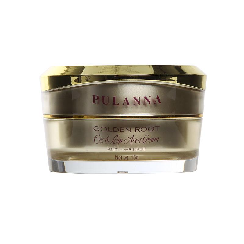 PulannaВосстанавливающий крем для контура век и губ на основе золотого корня - Eye& Lip Area Cream Anti-Wrinkle 15г Pulanna