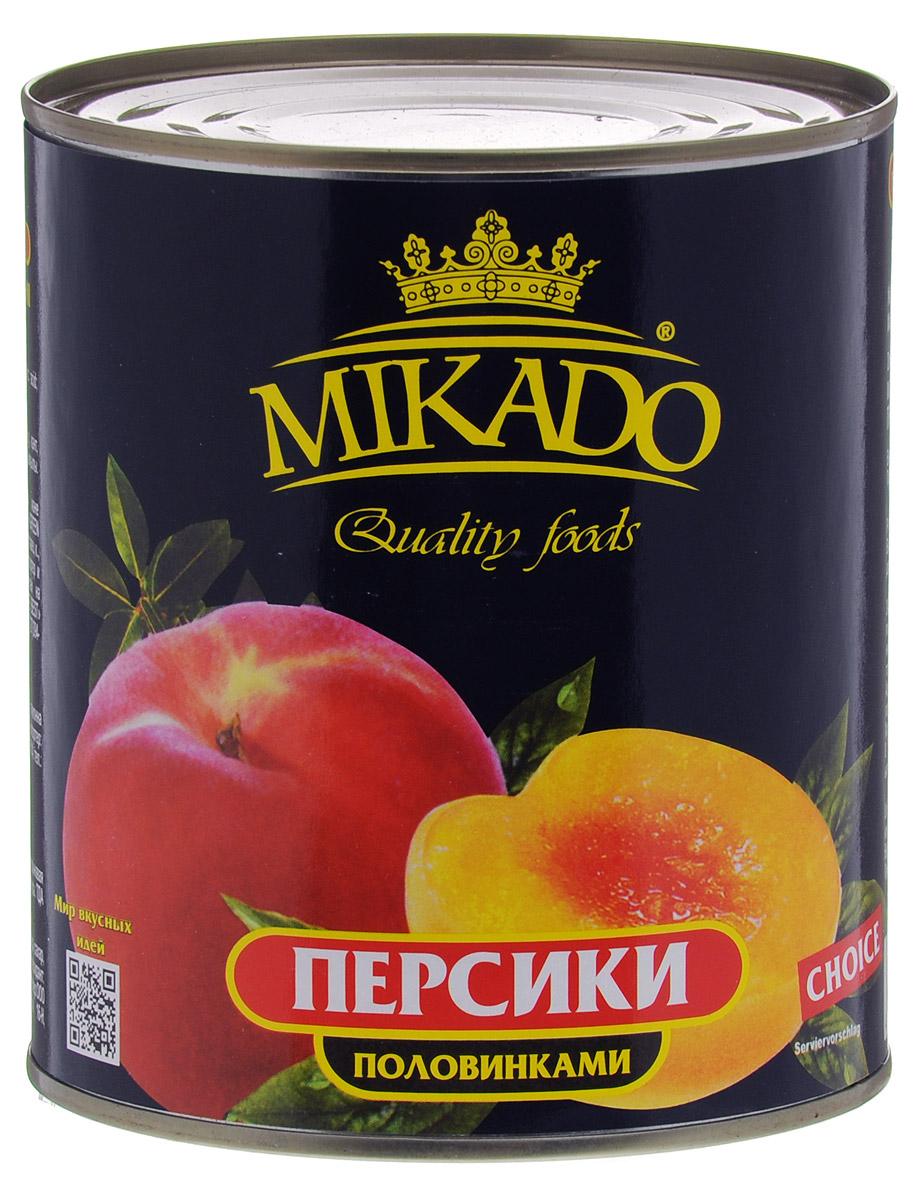 цена на Mikado персики половинками в сиропе, 850 мл