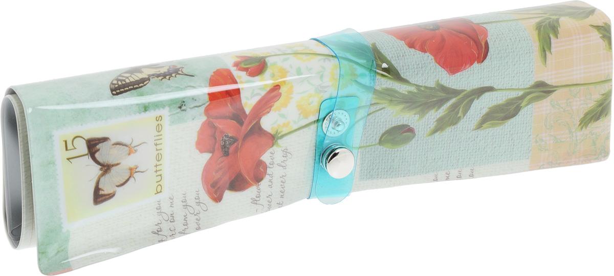 Фото - Пенал-органайзер для мелочей Феникс-Презент Бабочки, 25 х 20 см пенал органайзер феникс презент птицы 25 20см б наполнения пвх