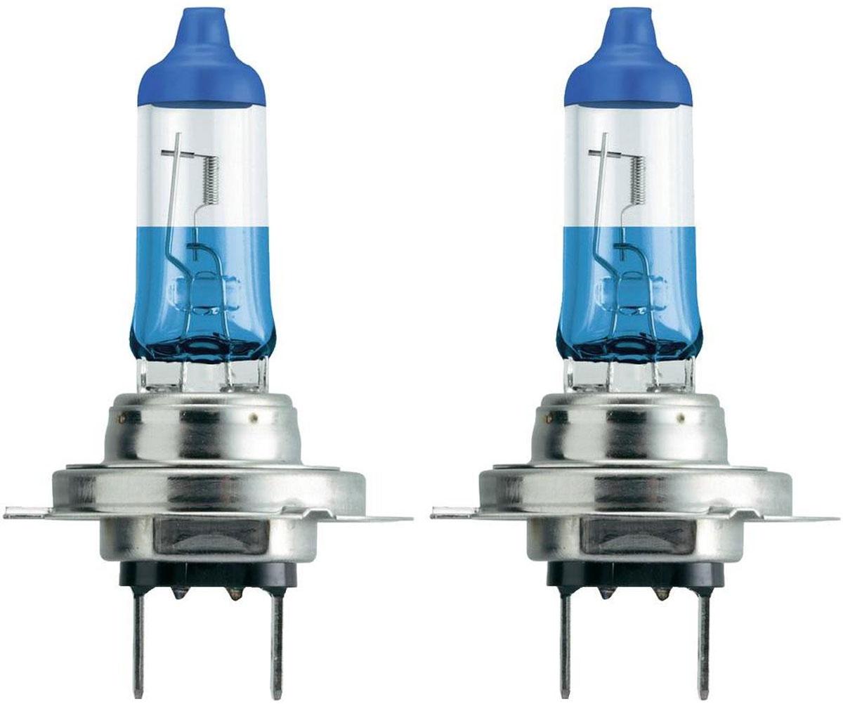 """Лампа автомобильная галогенная Philips """"ColorVision Blue"""", для фар, цоколь H7 (PX26d), 12V, 55W, 2 шт"""