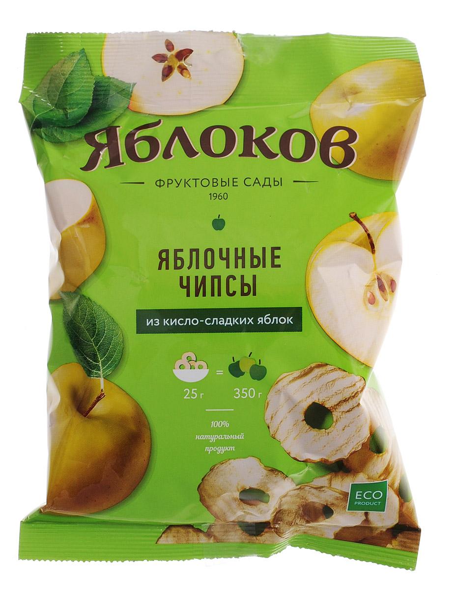 Яблоков яблочные чипсы из кисло-сладких яблок, 25 г bionova мюсли хрустящие запеченные яблочные 400 г