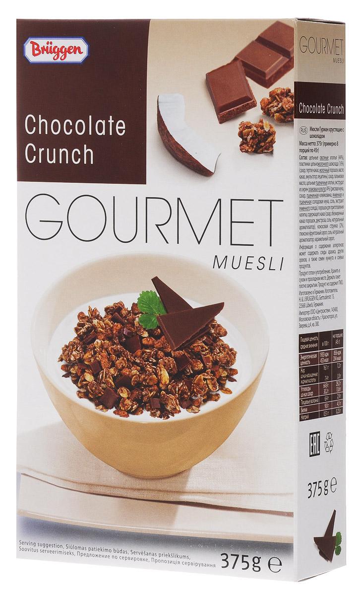 Gourmet мюсли шоколадные хрустящие, 375 г bionova мюсли хрустящие запеченные яблочные 400 г