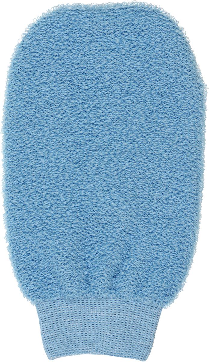 Мочалка-рукавица для лица Riffi, цвет: голубой мочалка рукавица riffi мягкая цвет бежевый