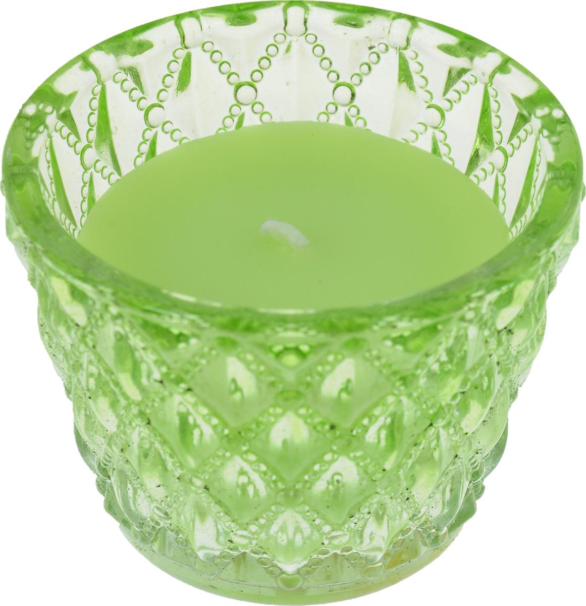 Декоративная ароматизированная свеча Magic Home, аромат Зеленый чай, 41225 свеча декоративная феникс презент яблоко ароматизированная в банке 32795