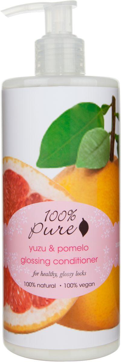 """100% Pure """"Юзу и Помело"""" кондиционер для блеска волос , 390 мл"""