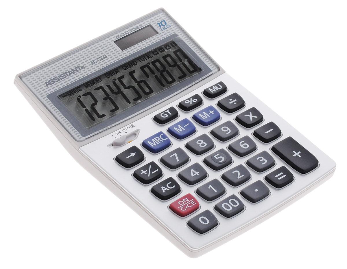 Фото - Assistant AC-2233, Silver калькулятор калькулятор настольный assistant ac 2488 14 разрядный ac 2488