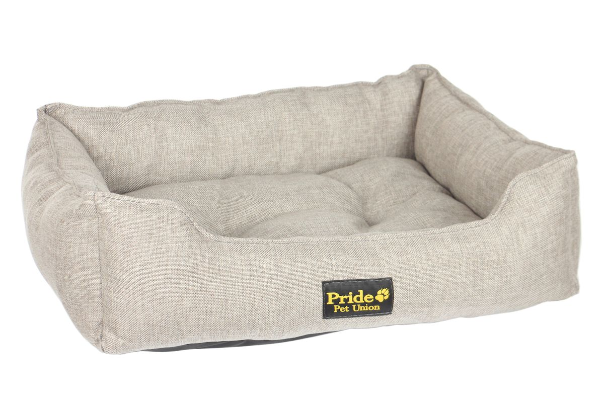 "Лежак для животных Pride ""Прованс"", цвет: песочный, 90 х 80 х 25 см"