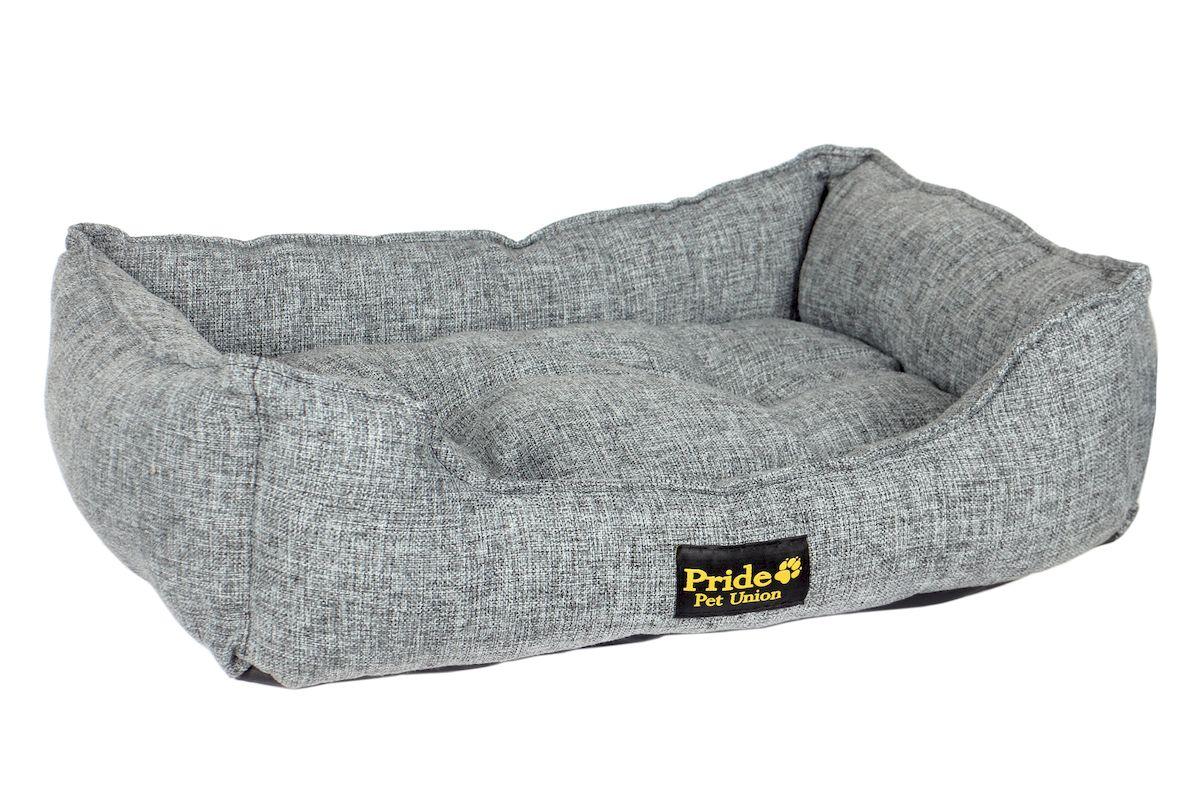 Лежак для животных Pride Прованс, цвет: графитовый, 50 х 41 х 11 см лежак для животных pride британия 10012661 60 х 50 х 18 см