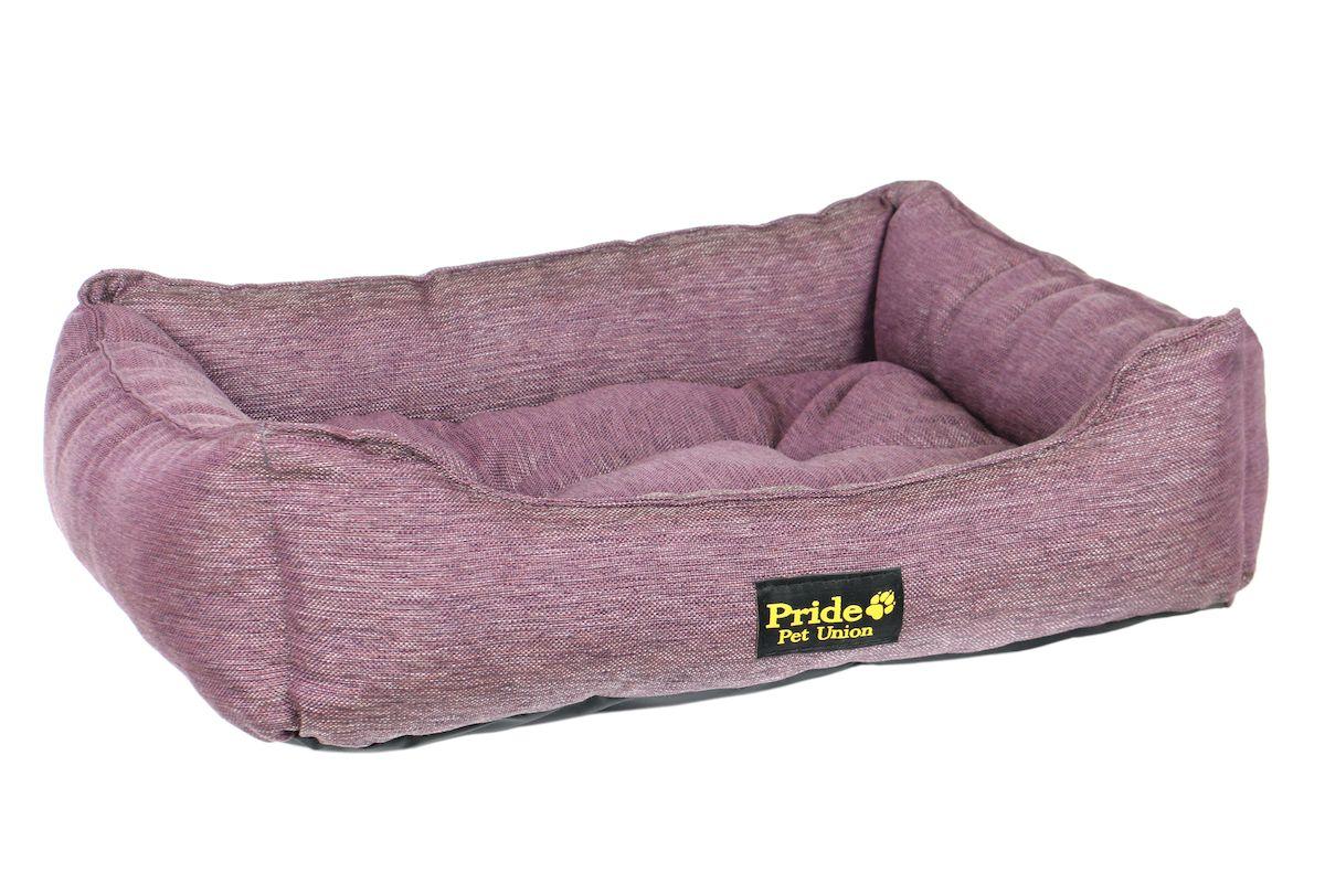 Лежак для животных Pride Прованс, цвет: фиолетовый, 60 х 50 х 15 см лежак для животных pride кадиллак цвет мультиколор 60 х 50 х 18 см