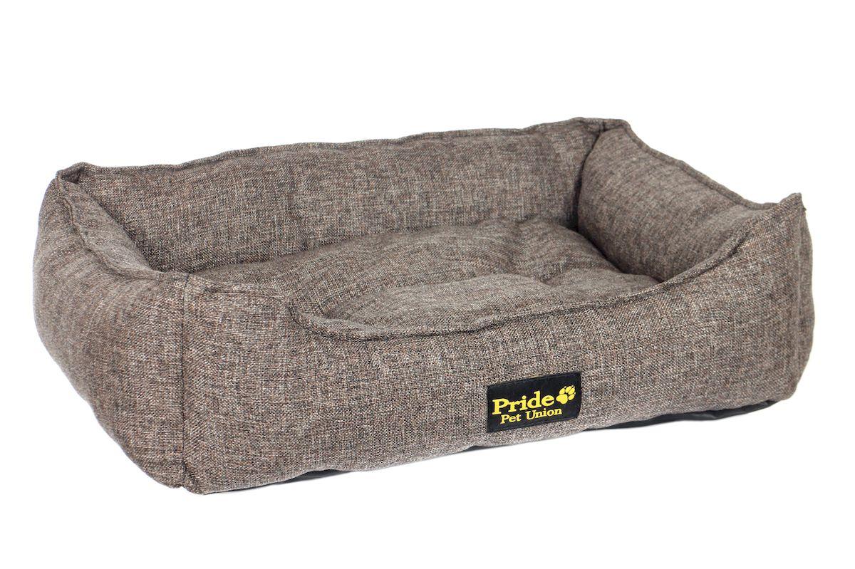 Лежак для животных Pride Прованс, цвет: кофе, 60 х 50 х 18 см