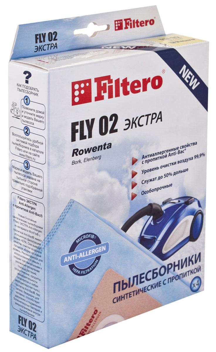 Filtero Fly 02 Экстра комплект пылесборников, 4 шт