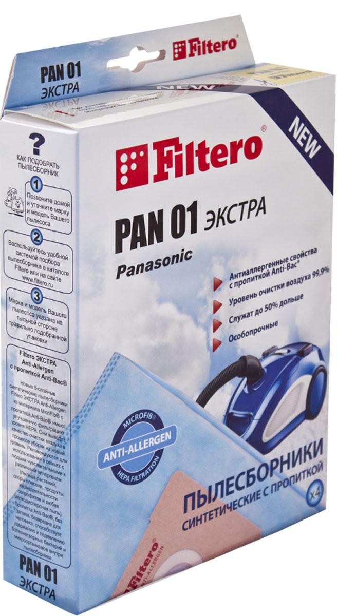 Filtero Pan 01 Экстра комплект пылесборников, 4 шт цена