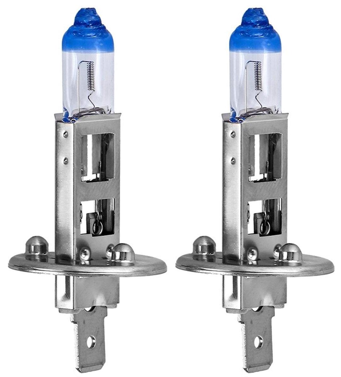 """Лампа автомобильная галогенная Philips """"X-tremeVision"""", для фар, цоколь H1 (P14.5s), 12V, 55W, 2 шт"""