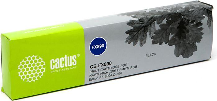 Cactus CS-FX890, Black картридж ленточный для Epson FX-890/LQ-590 цены