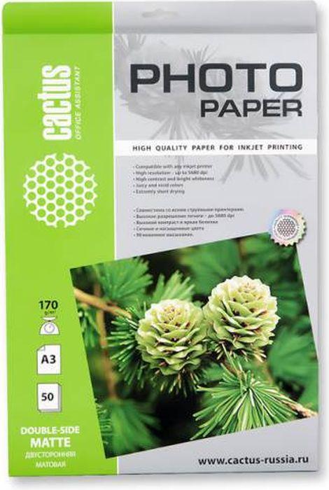 Cactus CS-MA317050DS A3/170г/м2 матовая фотобумага для струйной печати (50 листов) Уцененный товар (№1)