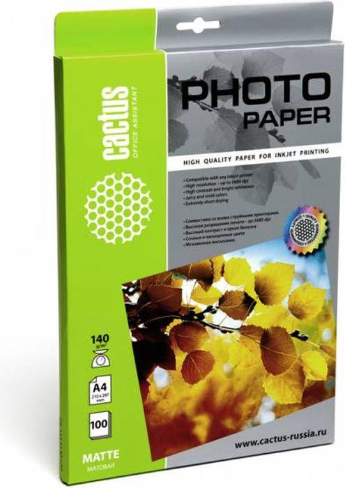 Cactus CS-MA4140100 A4/140г/м2 матовая фотобумага для струйной печати (100 листов) цена
