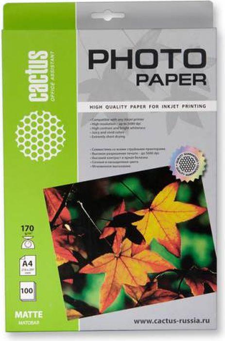 Cactus CS-MA4170100 A4/170г/м2 матовая фотобумага для струйной печати (100 листов) - Фотобумага