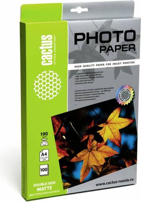 Cactus CS-MA4190100DS A4/190г/м2 фотобумага для струйной печати (100 листов) - Фотобумага
