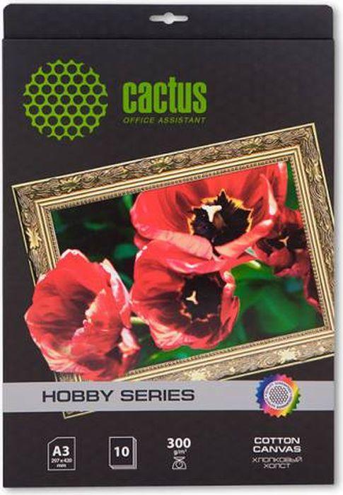 Cactus CS-СA326010 A3/300г/м2 холст для струйной печати (10 листов)