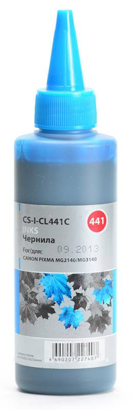 Cactus CS-I-CL441C, Cyan чернила для Canon Pixma MG2140/MG3140 комплект картриджей canon pg 440 cl 441 для pixma mg2140 mg3140