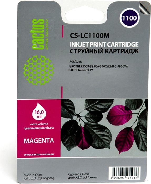 все цены на Cactus CS-LC1100M, Magenta картридж струйный для Brother DCP-385c/6690cw/MFC-990/5890/5895/6490 онлайн