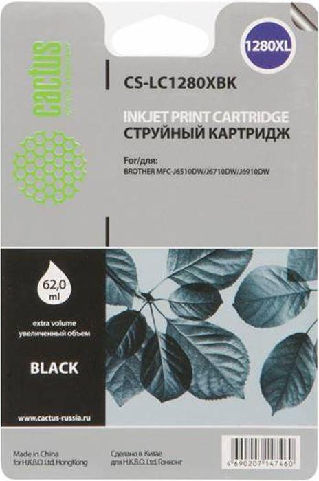 Cactus CS-LC1280XBK, Black картридж струйный для Brother MFC-J6510/6910DW картридж для принтера cactus cs pgi7bk black
