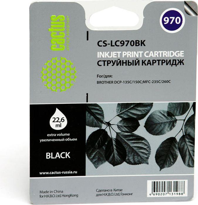 все цены на Cactus CS-LC970BK, Black картридж струйный для Brother DCP-135C/150C/MFC-235C/260C онлайн