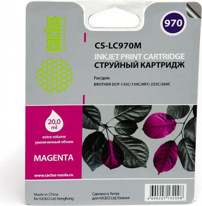 все цены на Cactus CS-LC970M, Magenta картридж струйный для Brother MFC-260c/235c/DCP-150c/135c онлайн