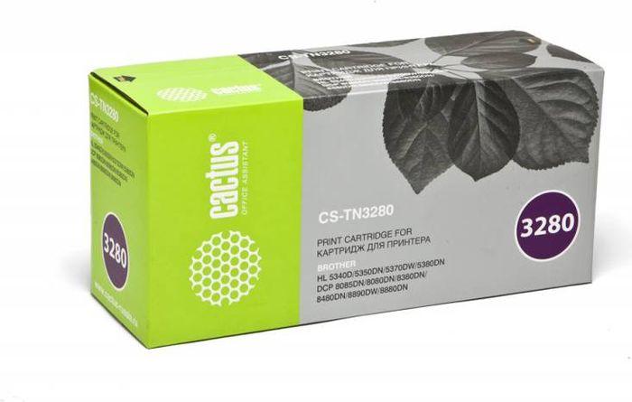Картридж Cactus CS-TN3280, черный, для лазерного принтера nv print tn3280 black тонер картридж для brother hl5340d 5350dn 5370dw 5380dn dcp8085 8070 mfc8370 8880