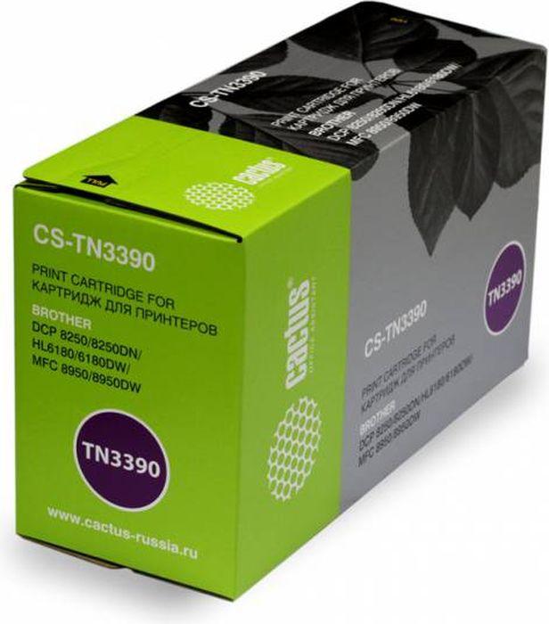 лучшая цена Картридж Cactus CS-TN3390, черный, для лазерного принтера